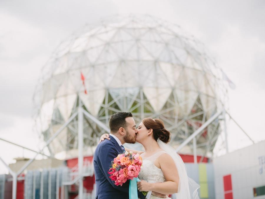 Science World Vancouver Wedding Portrait
