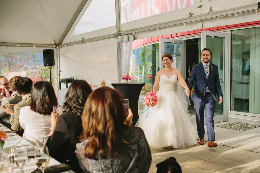 Grand Entrance of the Bride and Groom at Science World