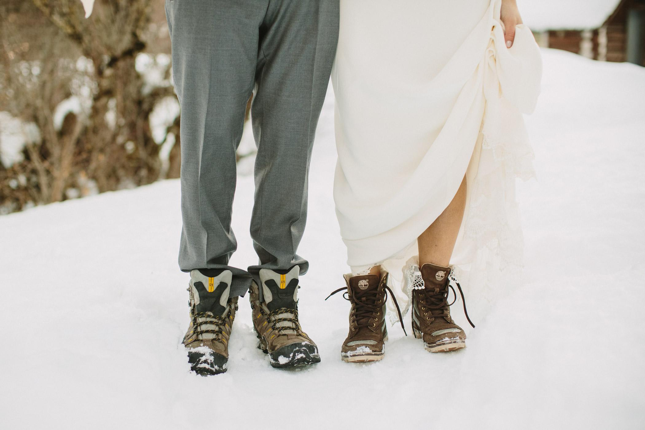 Whistler Bride and Groom Snowy Footwear