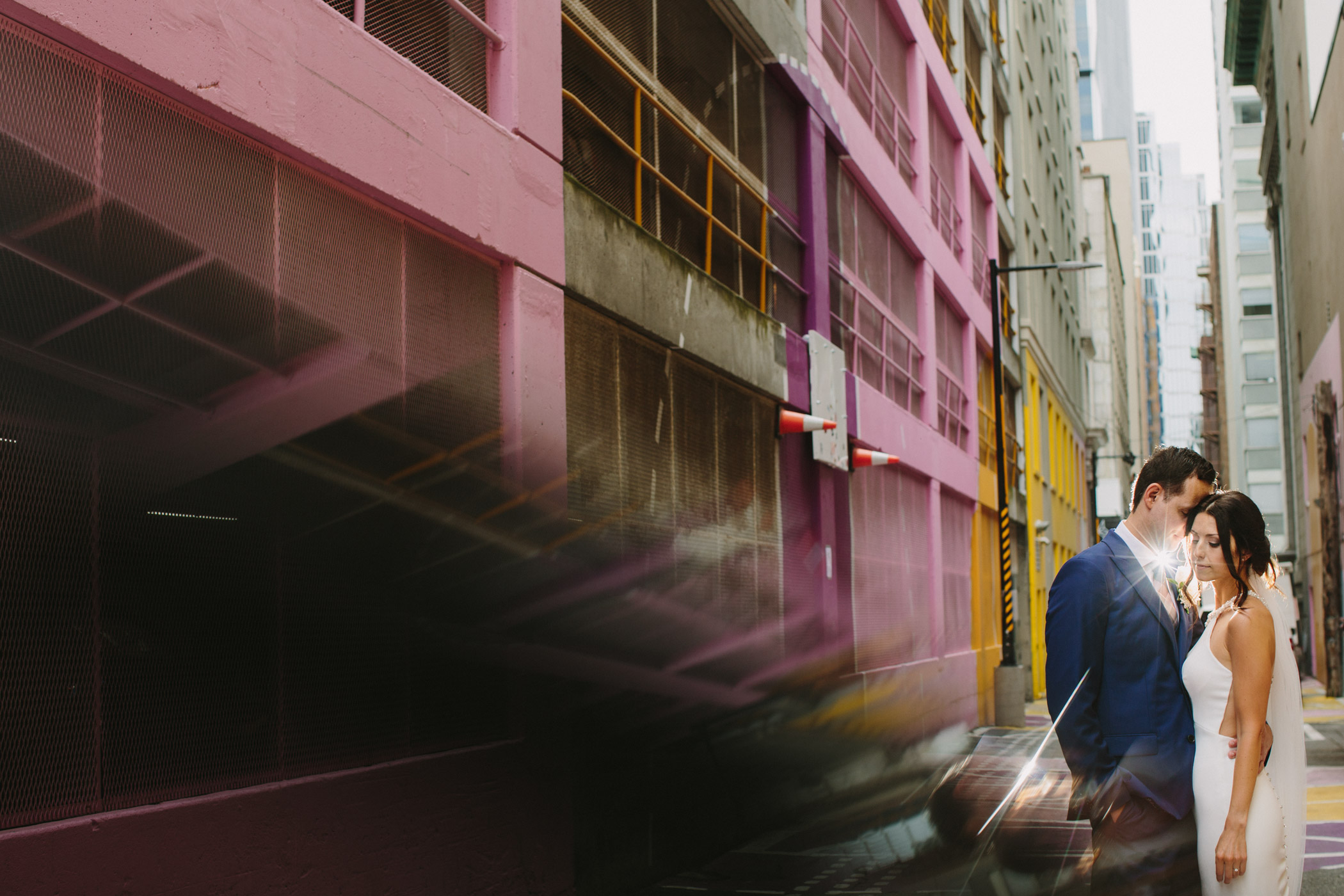 Reflection Portrait in Vancouver's Pink Alley