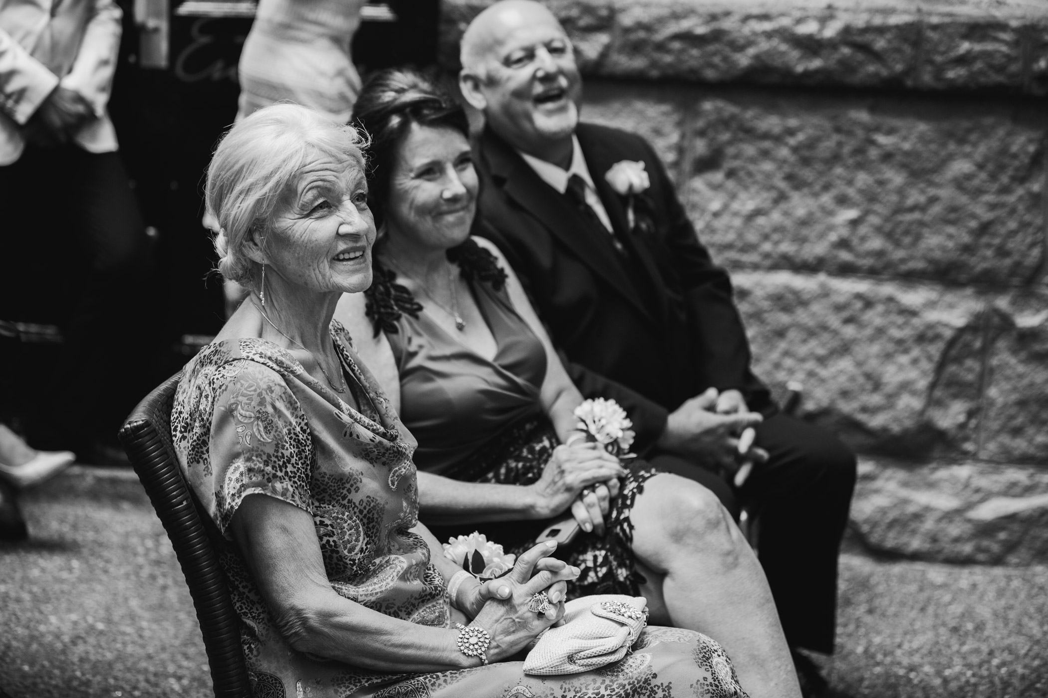 Parents during Brix and Mortar Wedding Ceremony