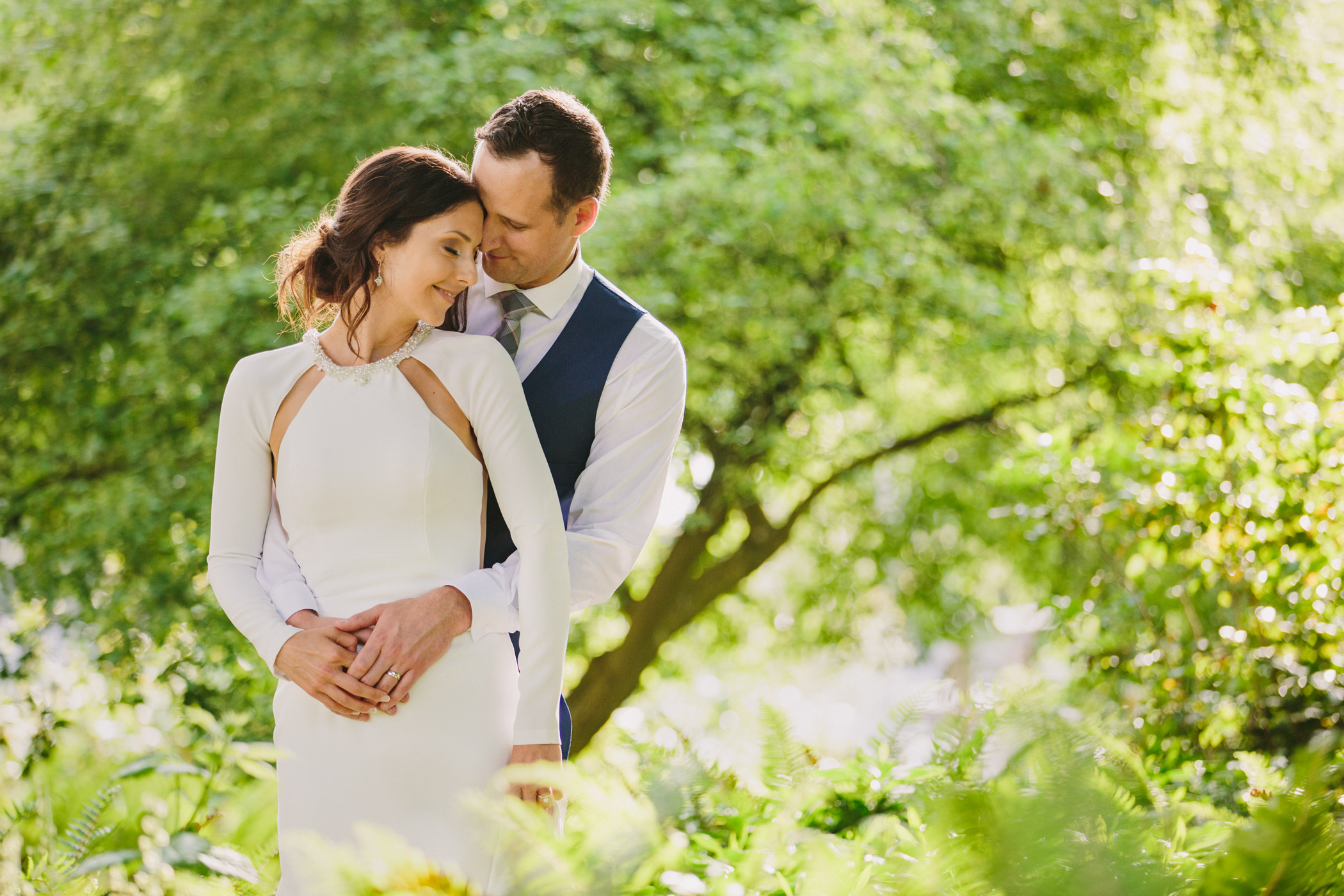Bride and Groom in Vancouver's Nature