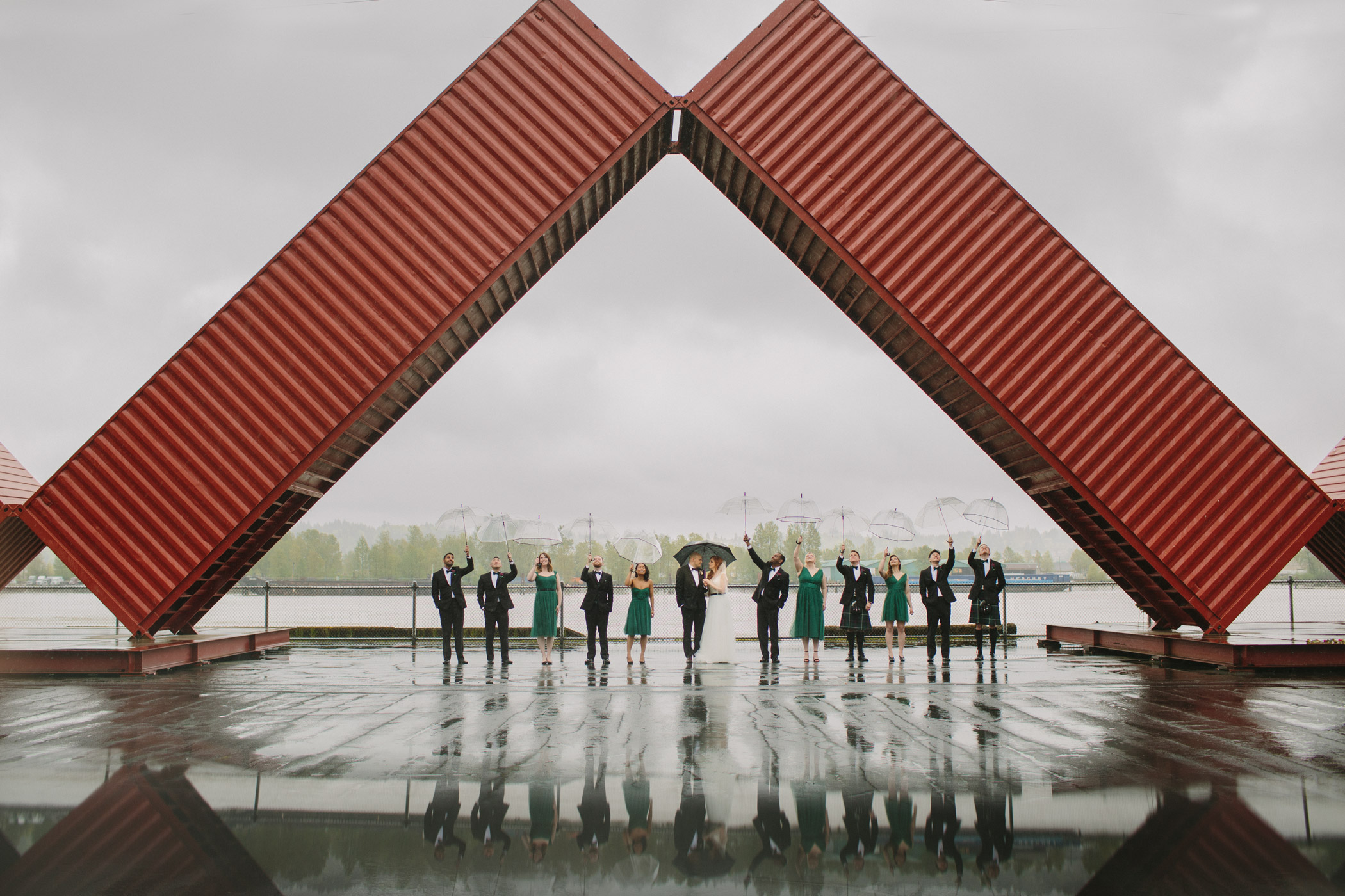 New Westminster Quay Wedding Party