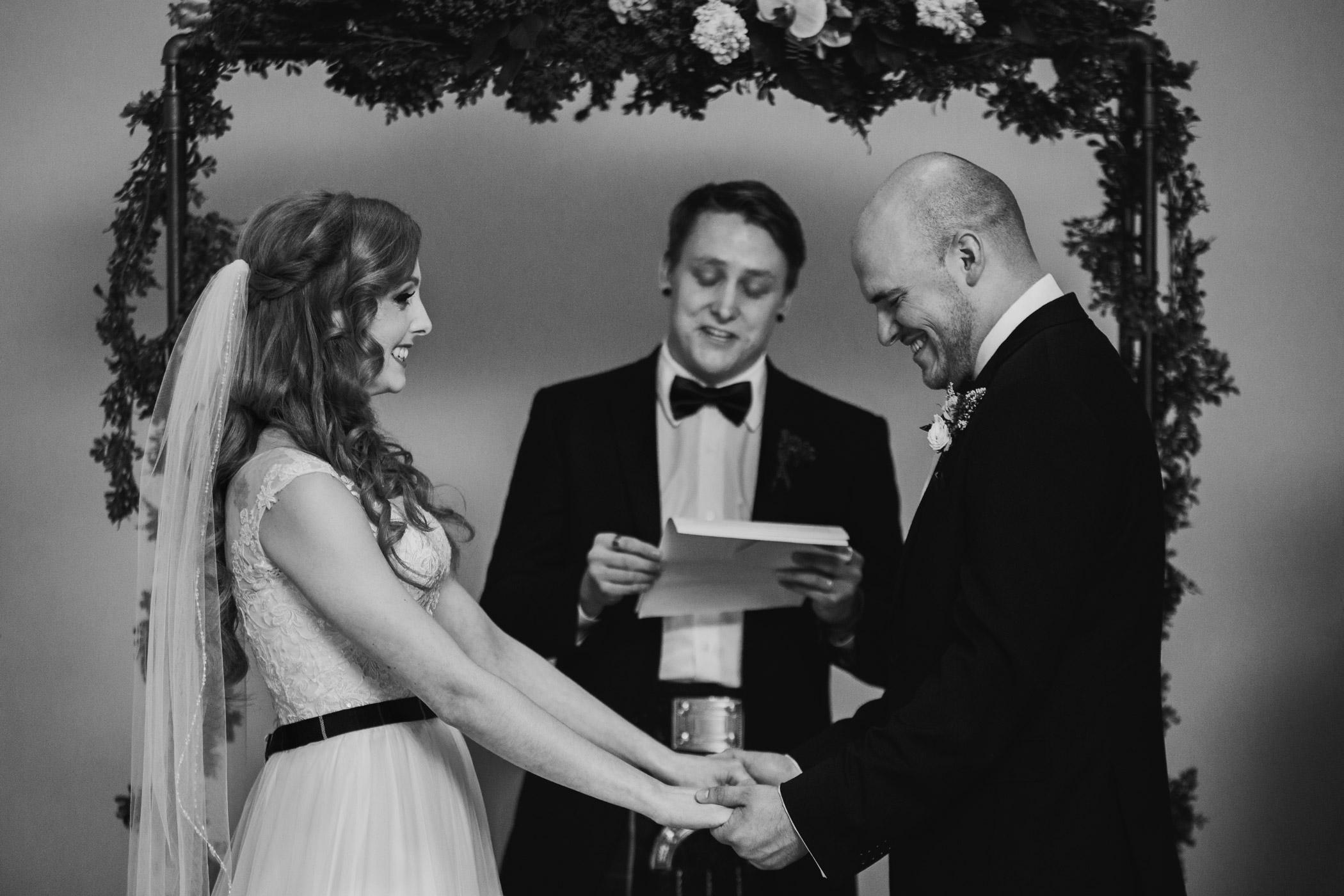 Wedding Ceremony at Alan Emmott Centre