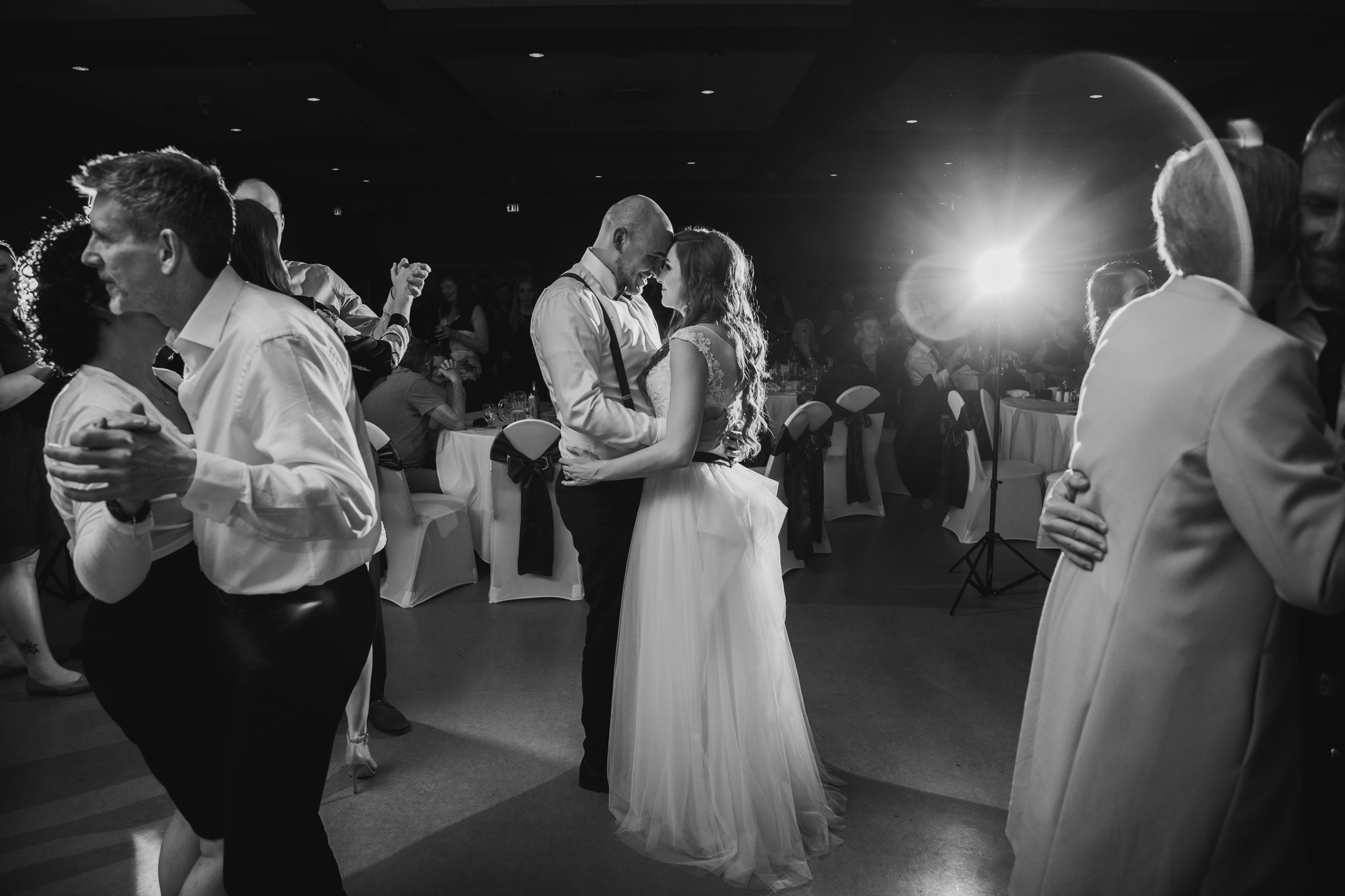 Bride and Groom First Dance at Alan Emmott Centre