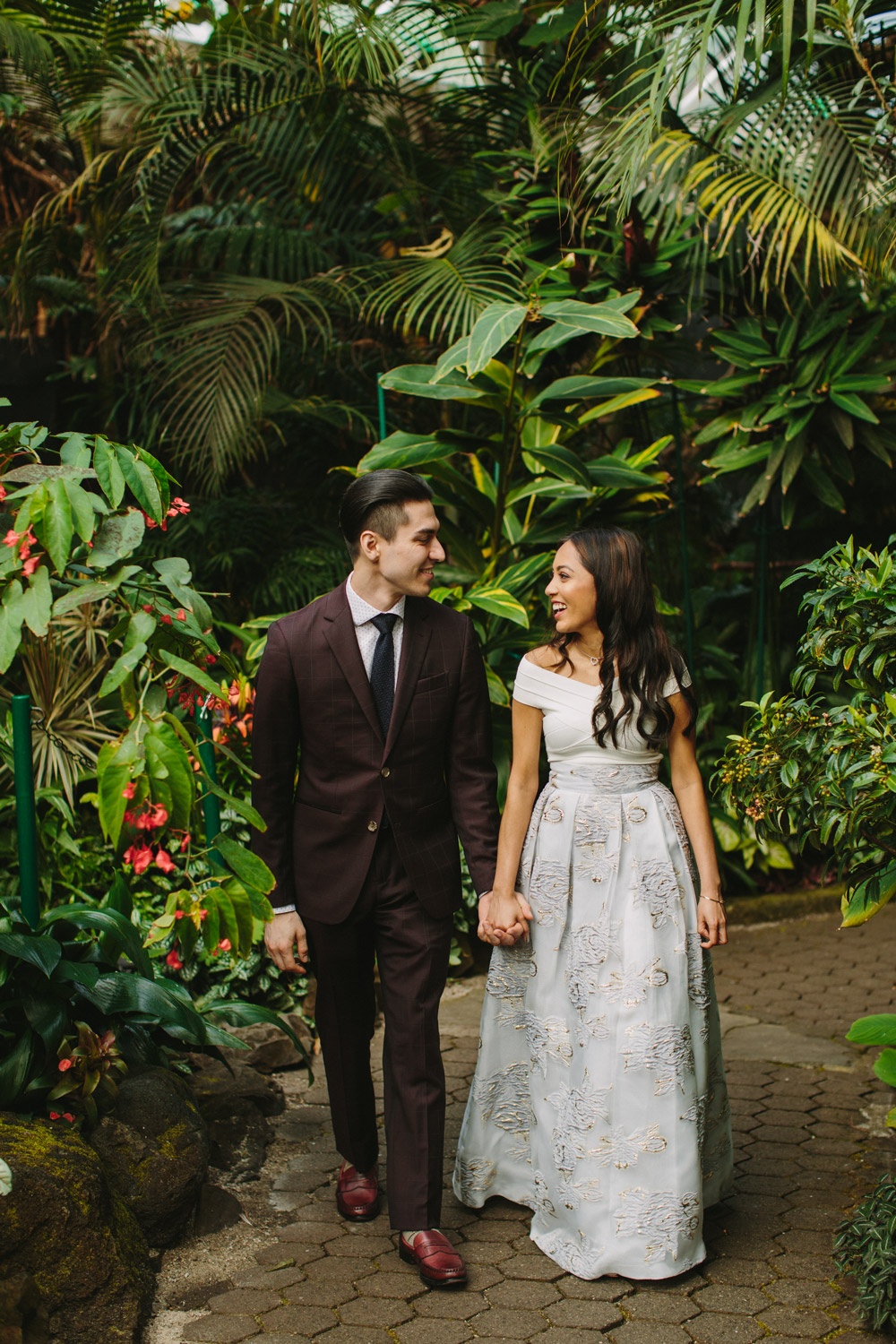 Tropical Wedding Portrait in Vancouver