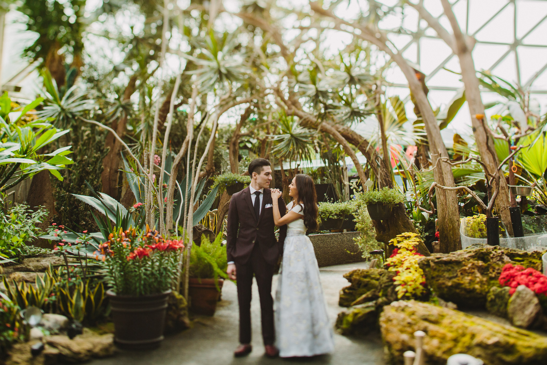 Bloedel Conservatory Bride and Groom