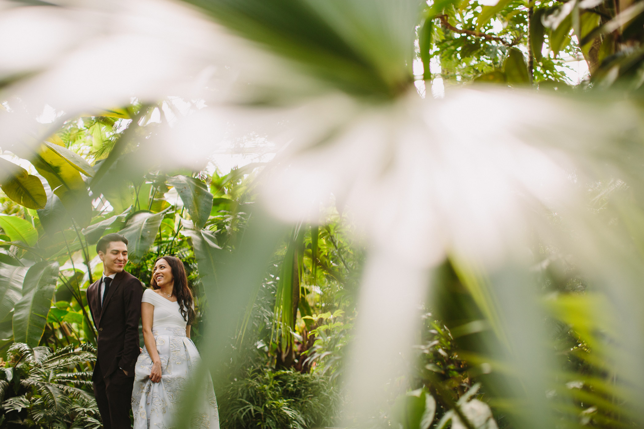 Wedding Portrait at Bloedel Conservatory