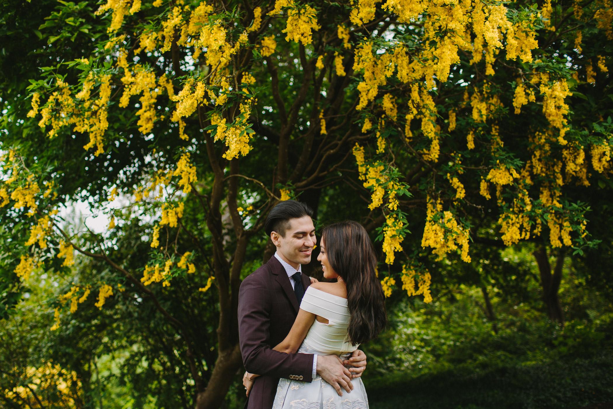 Vancouver Wedding Wisteria Portrait