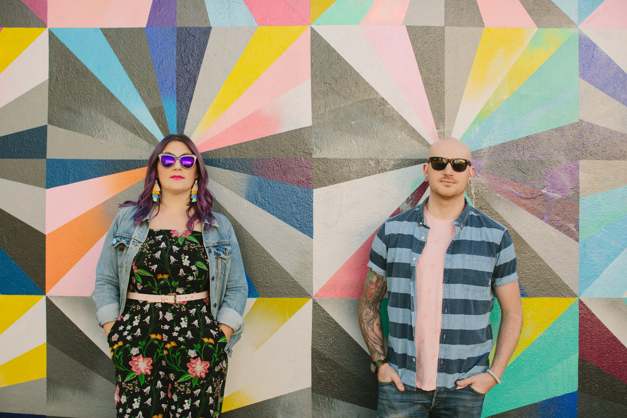 Colourful Vancouver Engagement Session