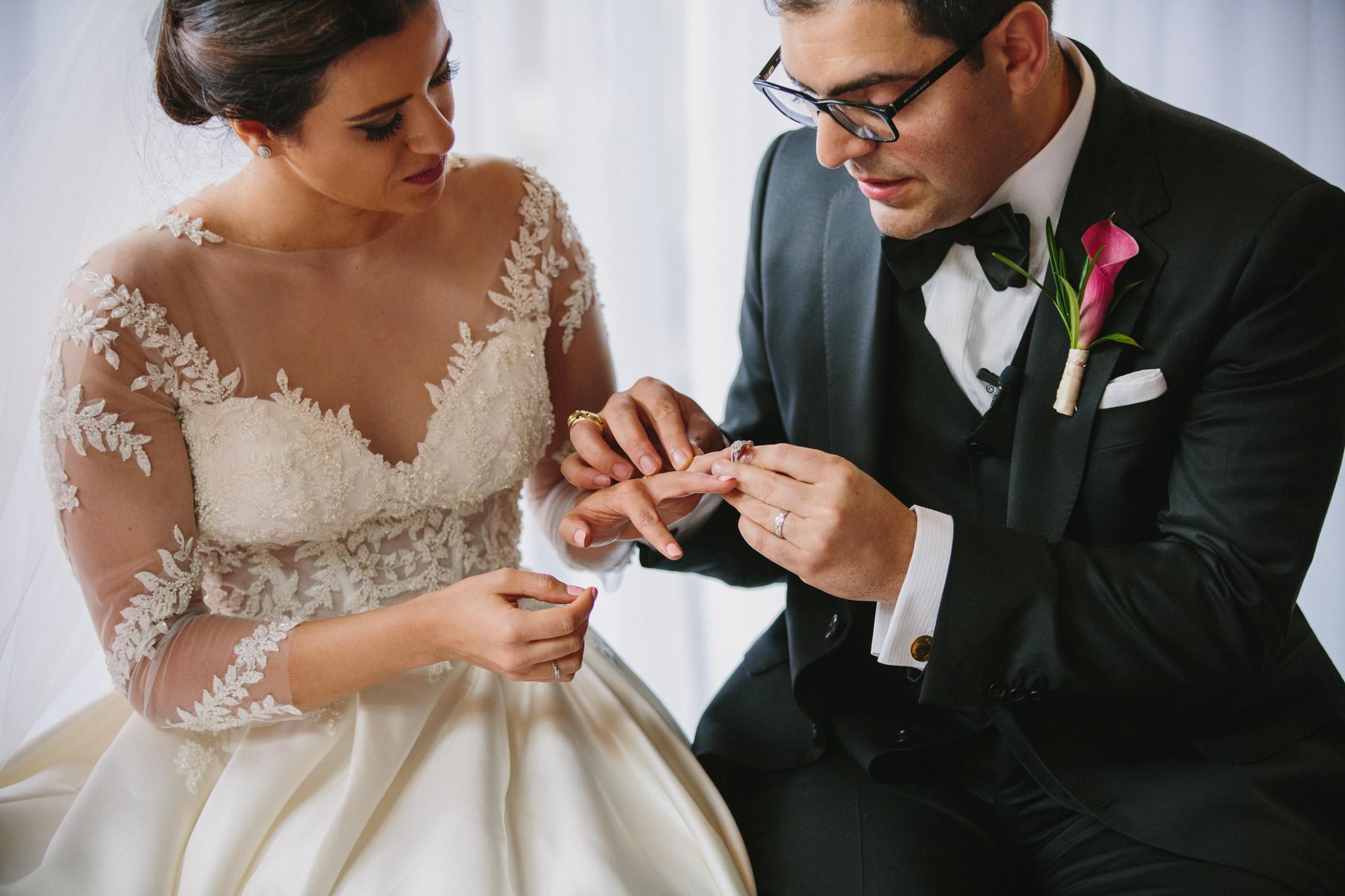Ring Exchange Persian Wedding at Van Dusen Gardens