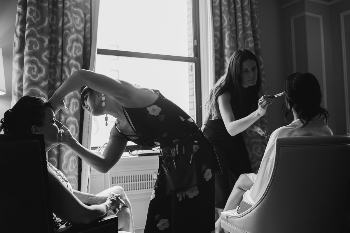 Hair and Makeup Team working at Fairmont Hotel Vancouver