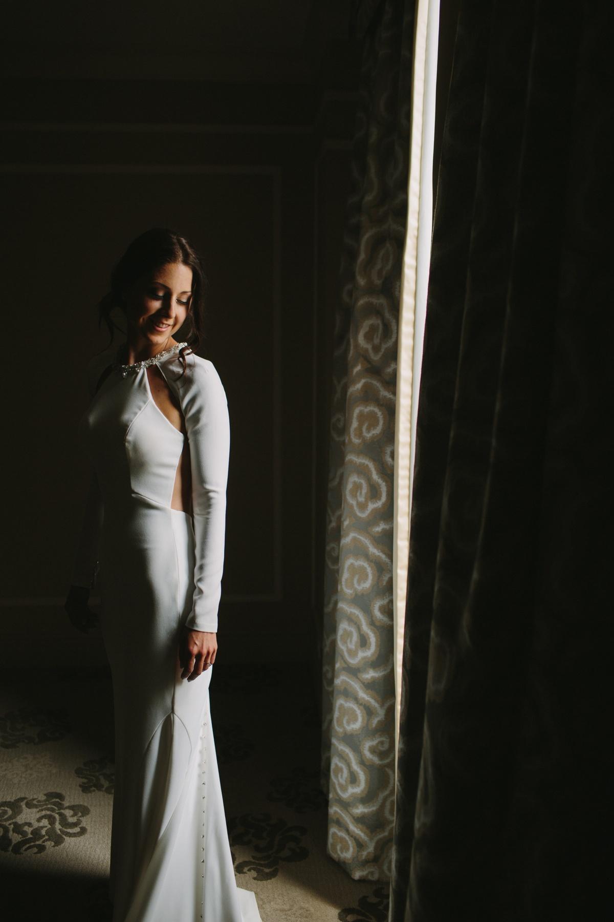 Bridal portrait at Fairmont Hotel Vancouver