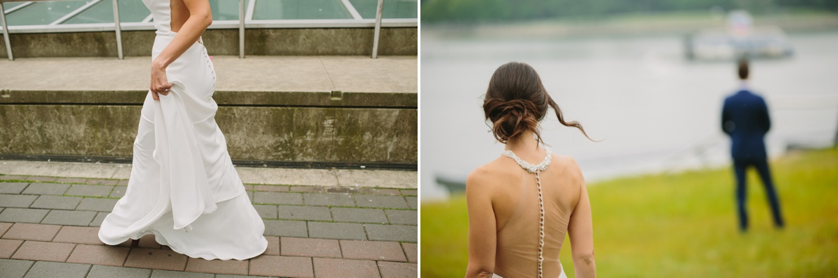 Vancouver bride arrives for first look at Coal Harbour