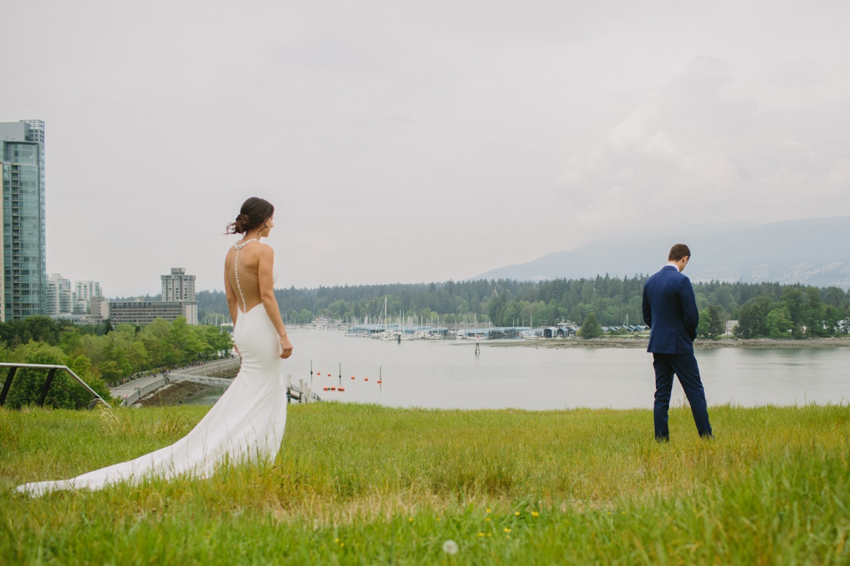 First look with Coal Harbour and Stanley Park in the background