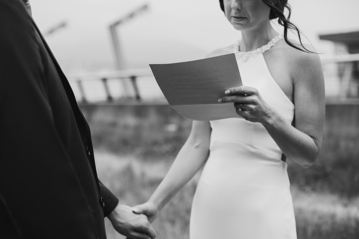 Private vows at Coal Harbour