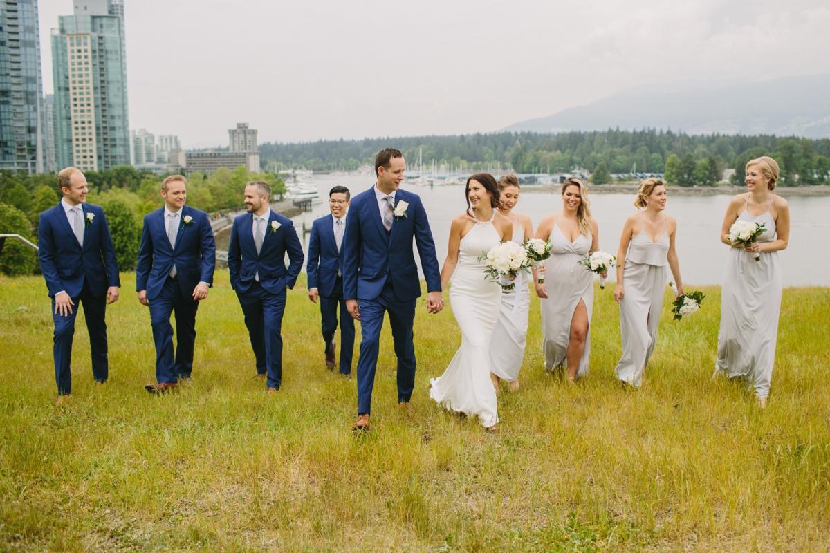 Coal Harbour wedding party photo
