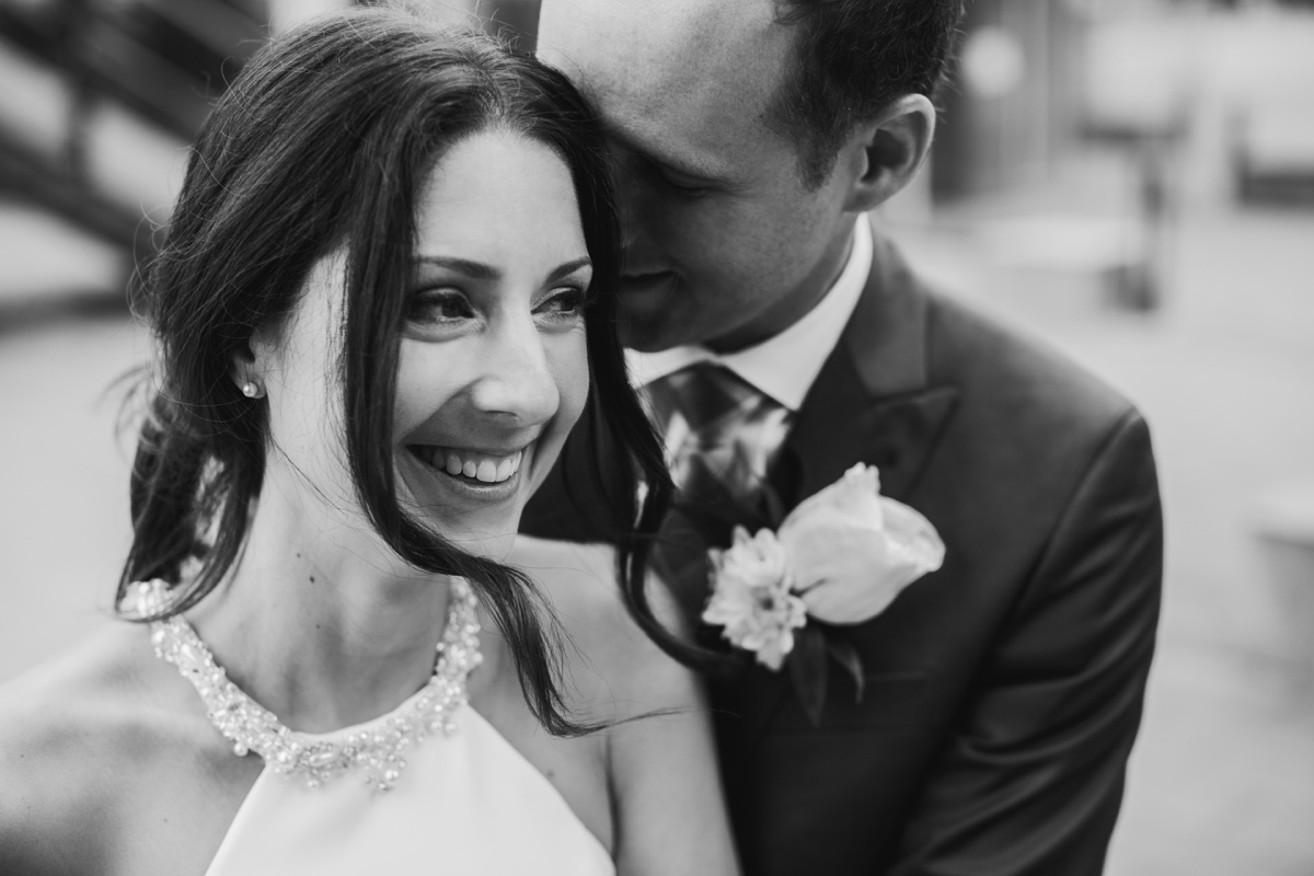 Vancouver bride and groom intimate