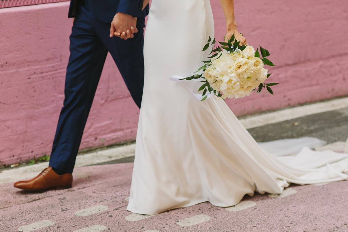 Wedding details in Vancouver's alley-oop