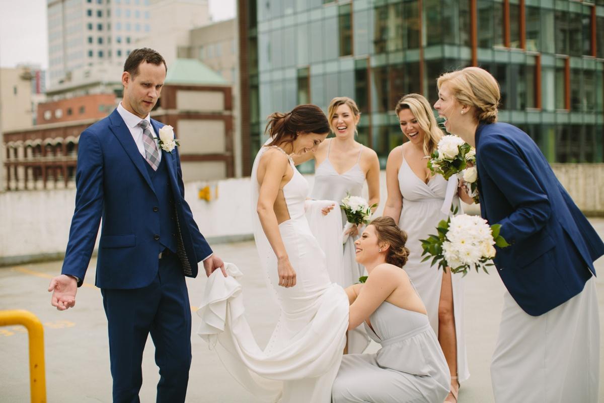 Vancouver bride gets dress adjustment