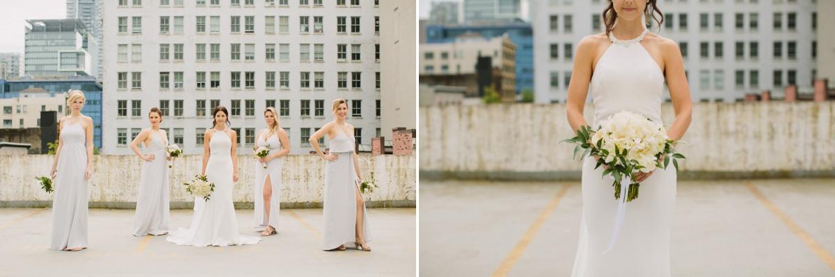Urban Vancouver bridesmaid portrait