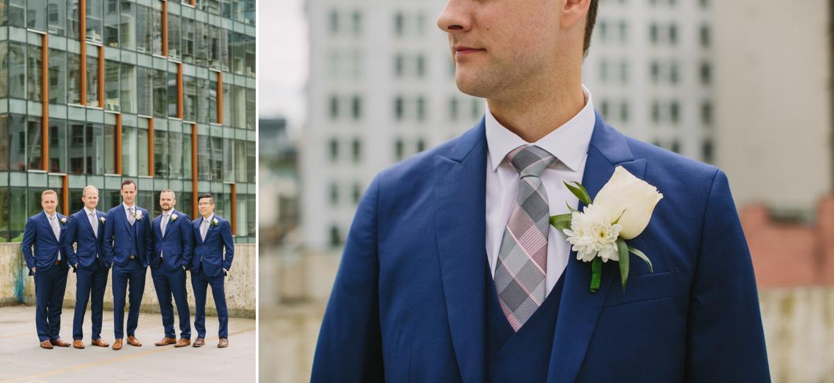Urban Vancouver groom portrait