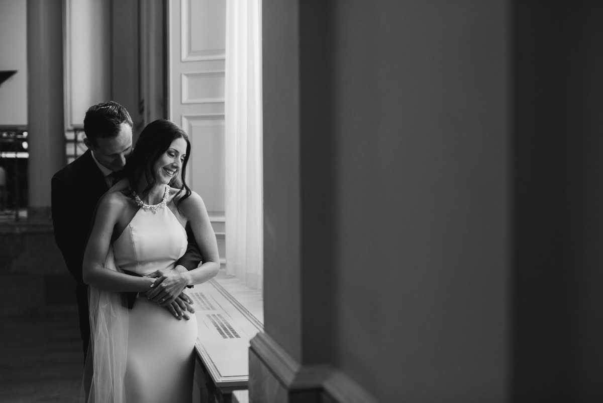 Intimate moment with Vancouver bride and groom