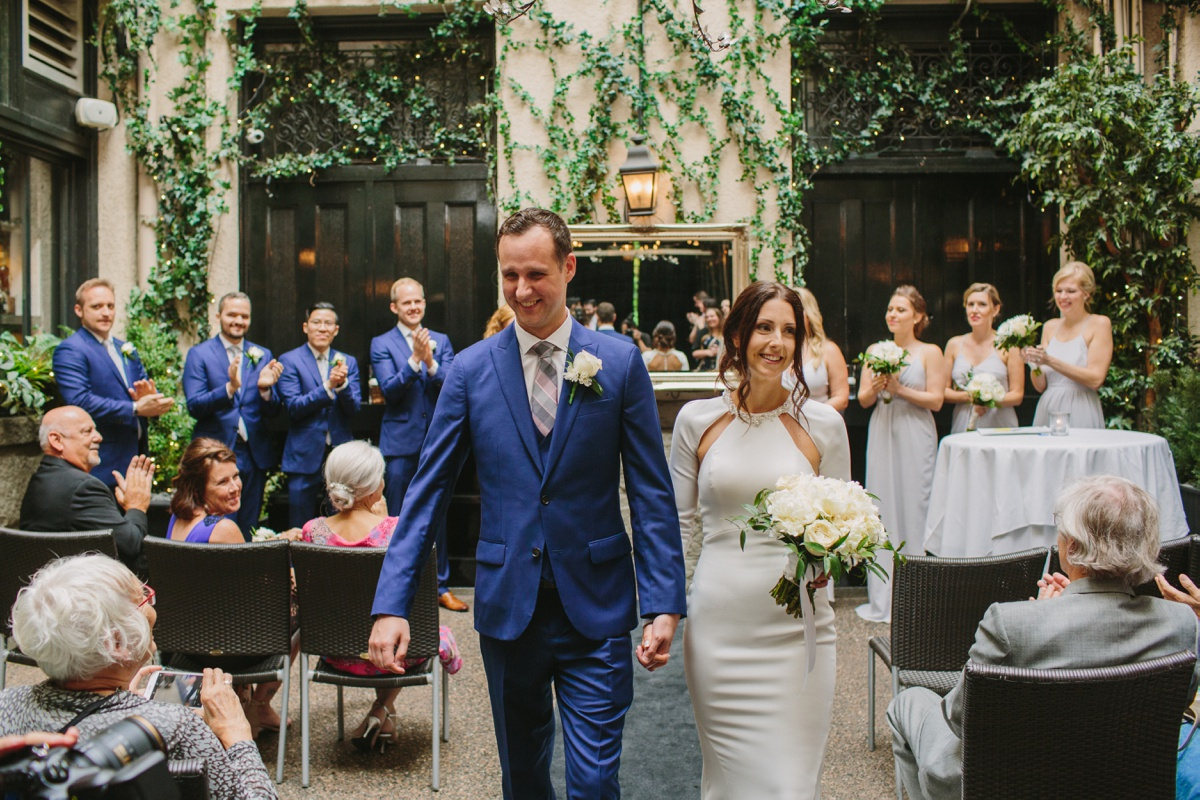Vancouver bride and groom recessional