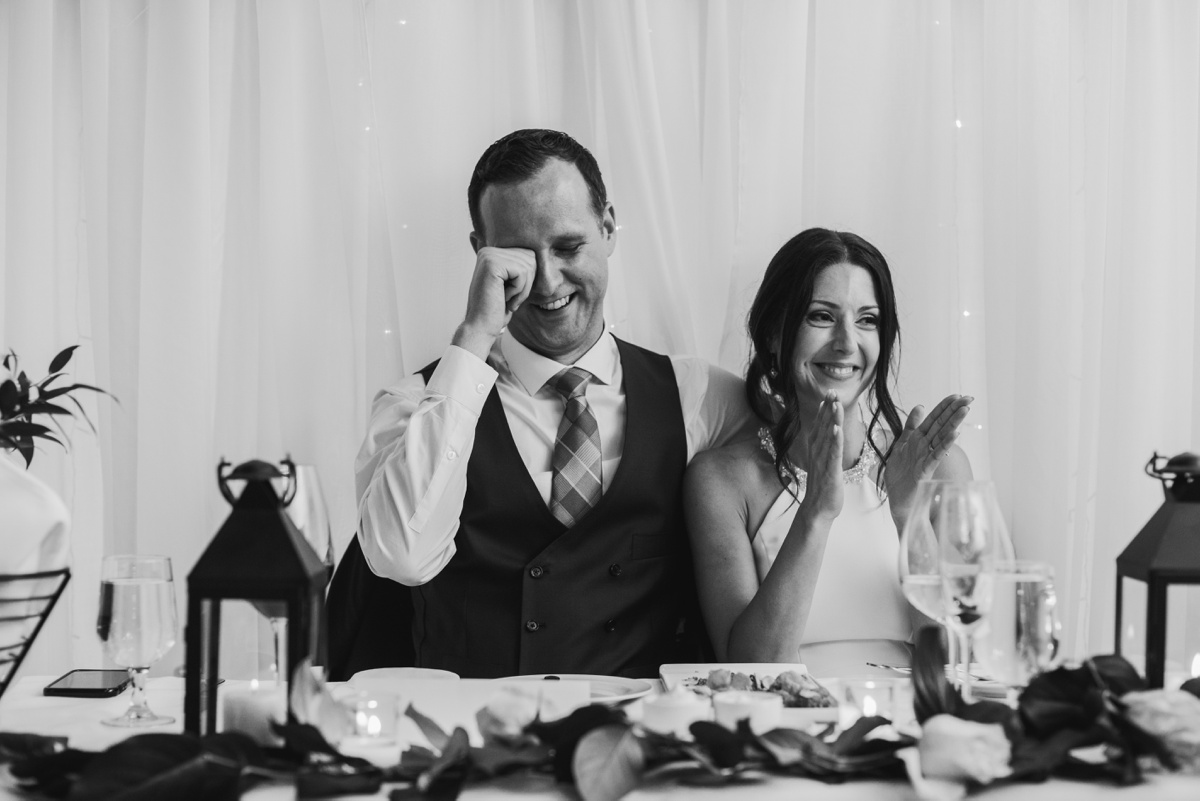 Wedding speeches at Brix & Mortar