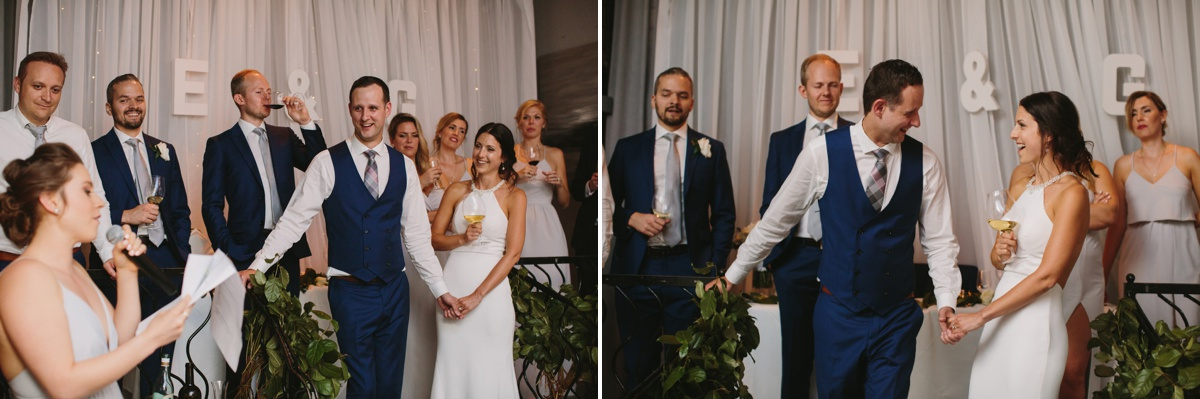 Bride and groom game at Brix & Mortar