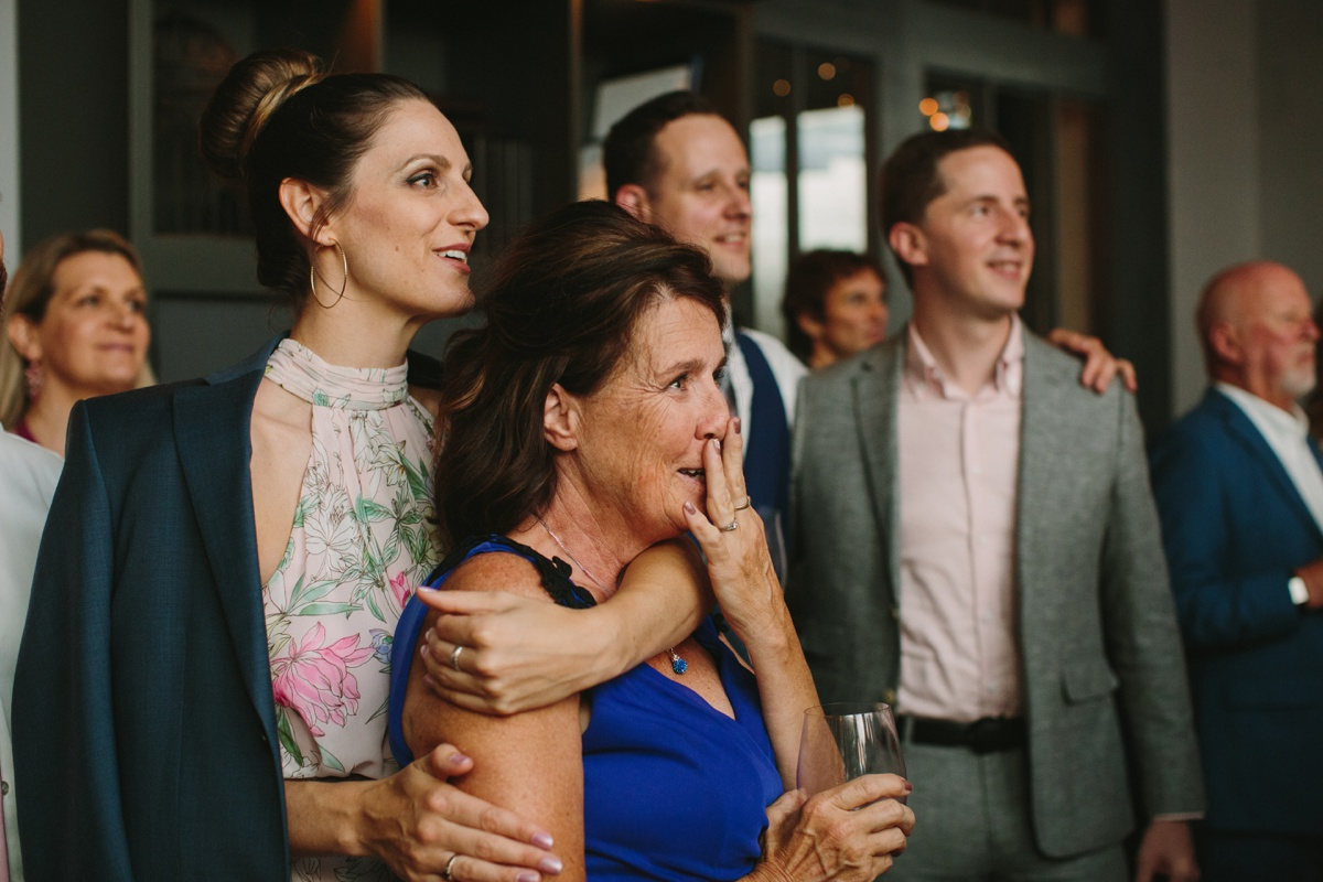 Slideshow at Vancouver wedding reception in Yaletown