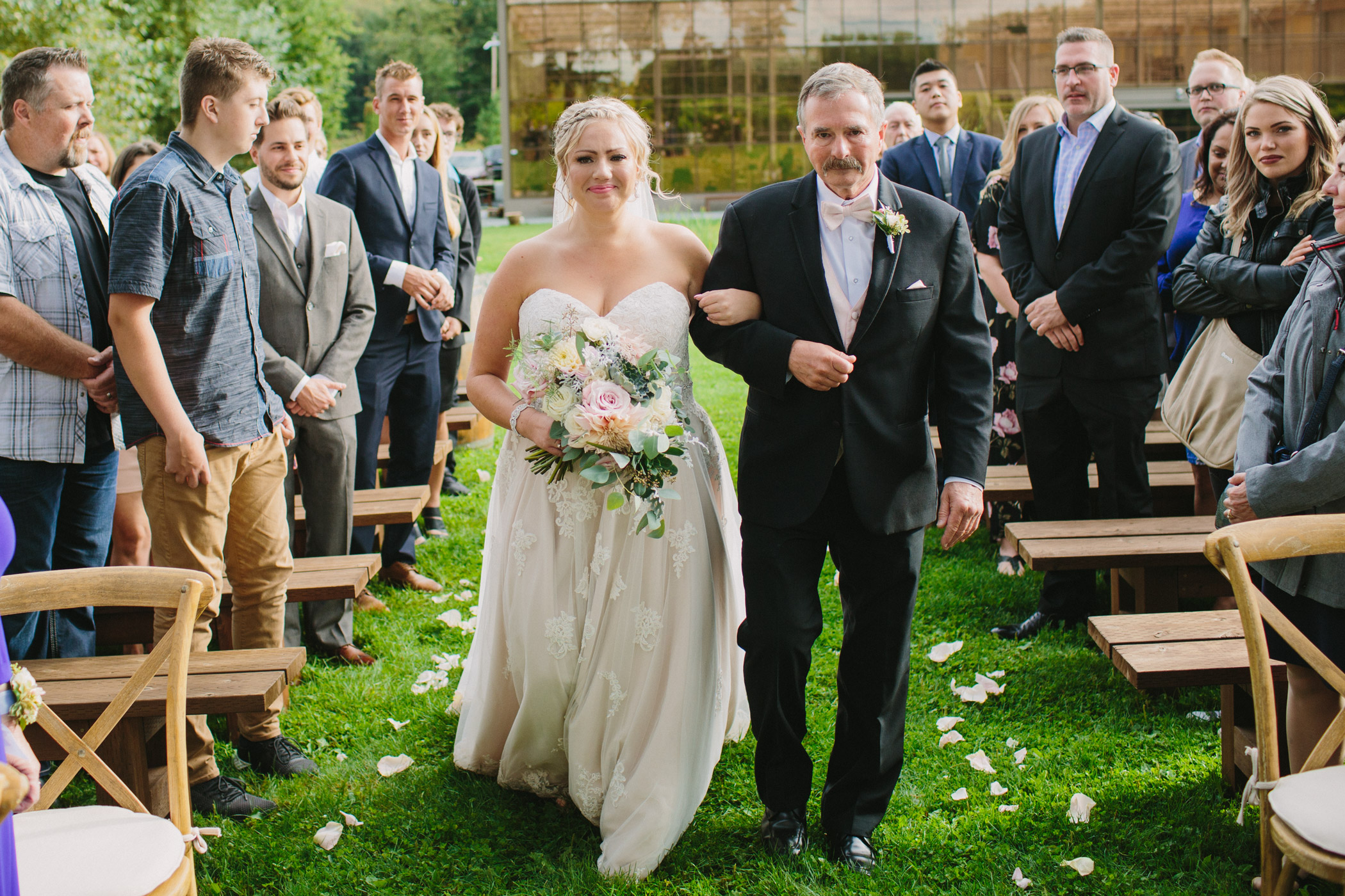 Wedding Ceremony at Glasshouse Estate Winery