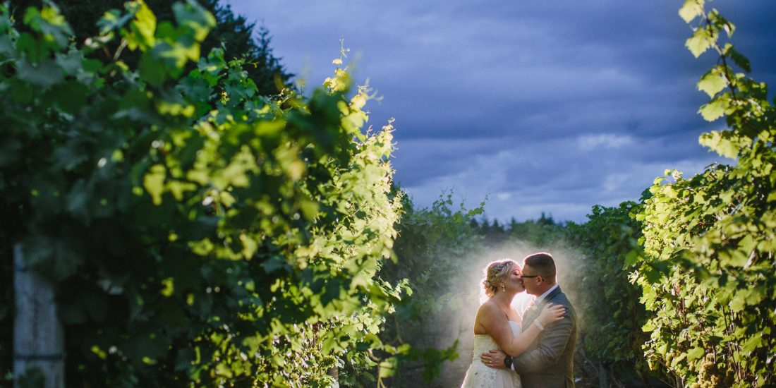Glasshouse Estate Winery Bride and Groom Portrait