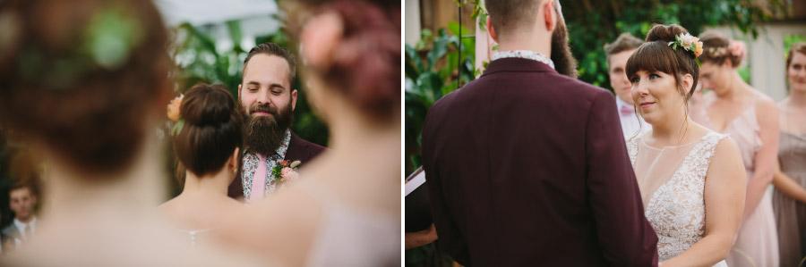 Wedding Vows at Secret Gardens at Woodbridge Ponds