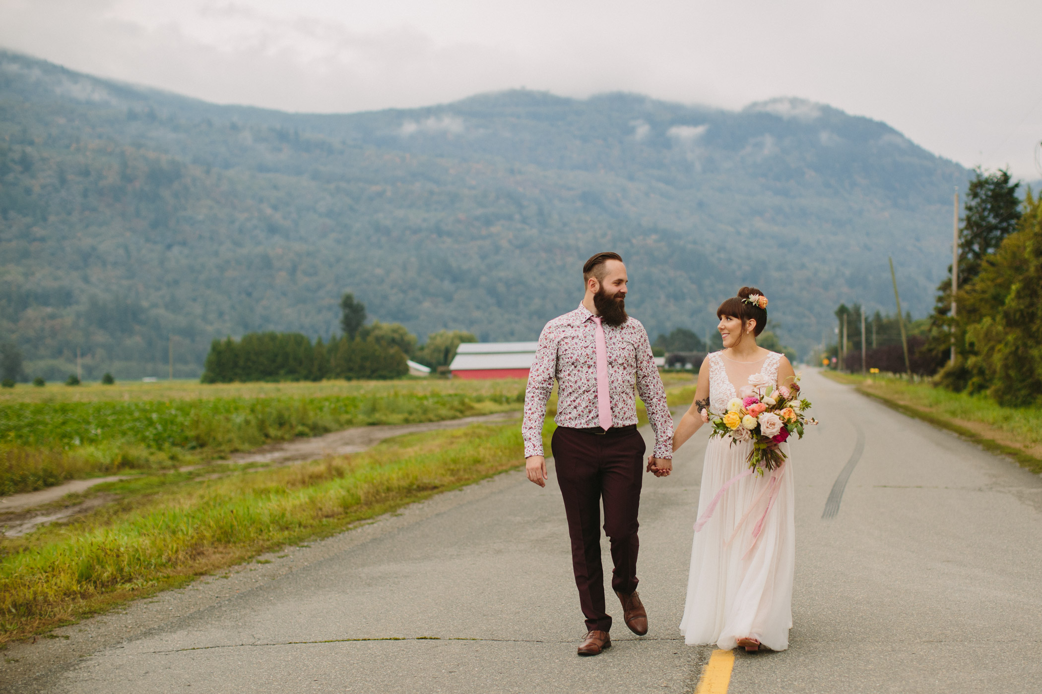 Abbotsford Bride and Groom Portrait