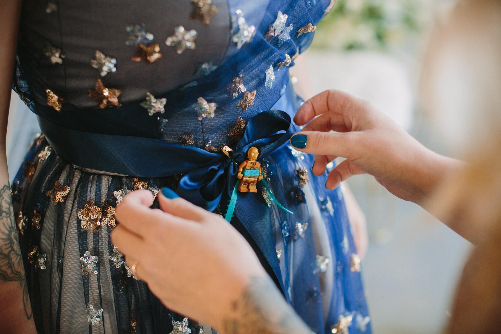 Custom Celesial Dress Detail