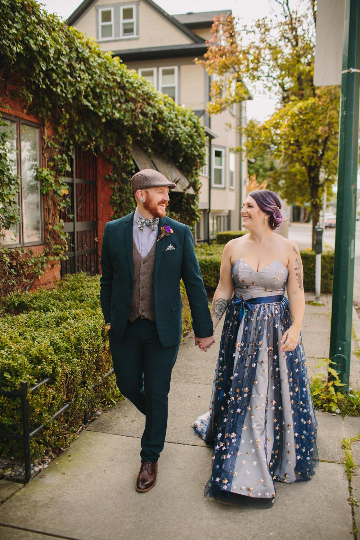Bride and Groom exploring Mount Pleasant