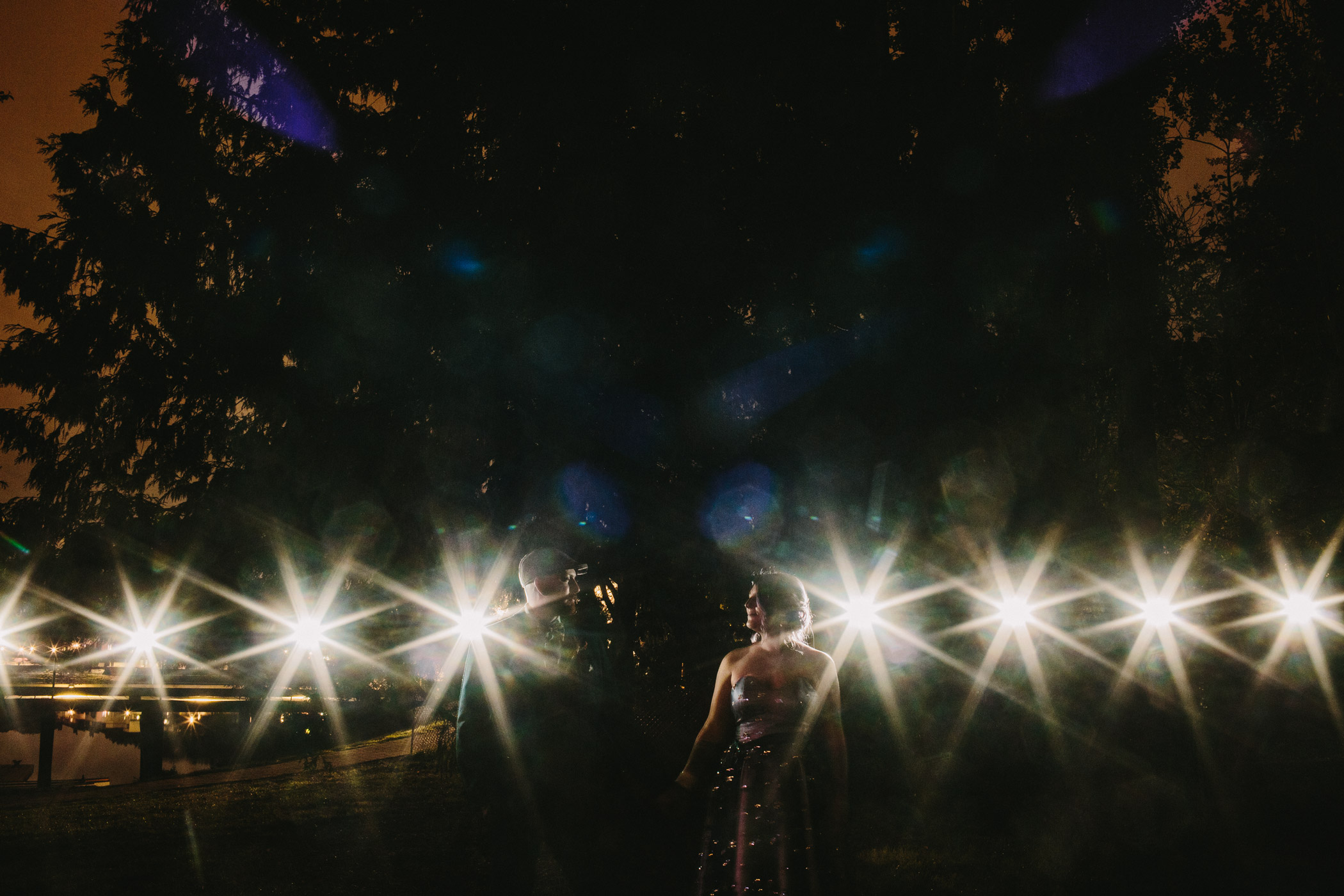 Vancouver Wedding Night Portrait