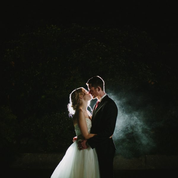 Night Portrait at UBC Wedding