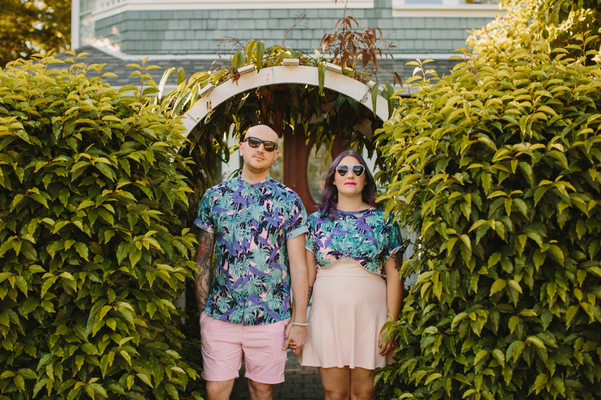 Matching Outfits Vancouver Engagement