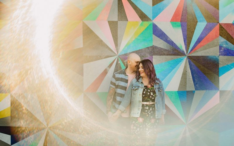 Engagement Session with Main Street Murals