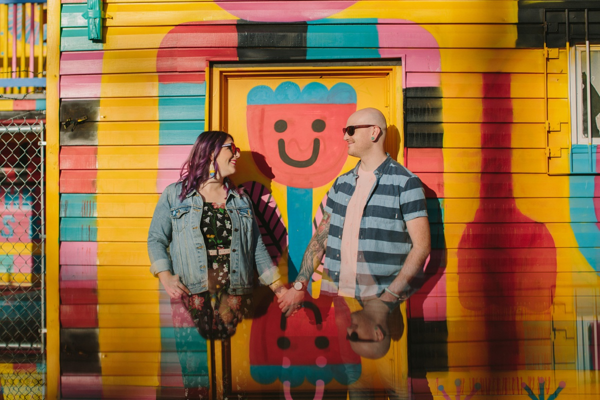 Fun Colourful Engagement in Vancouver