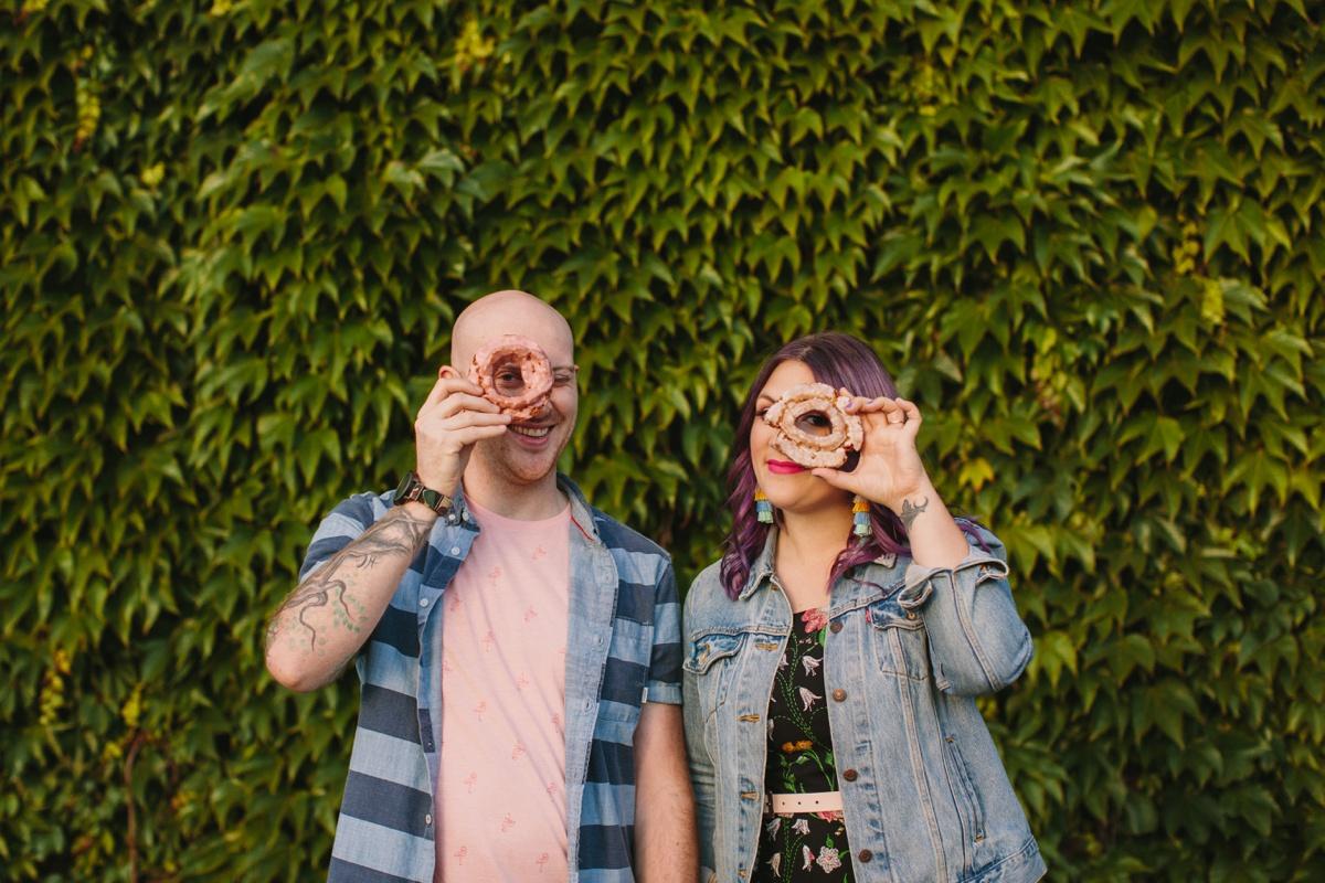 Doughnut Engagement Portrait