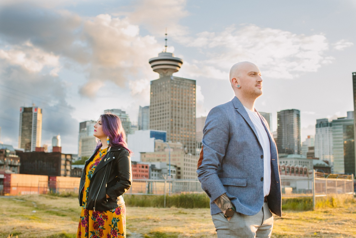 Sunset Portrait in Downtown Vancouver