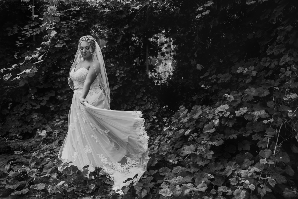 Bride Portrait during Wedding at Glass House Estate Winery