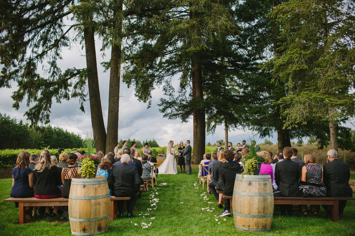 Wedding Ceremony at Glass House Estate Winery