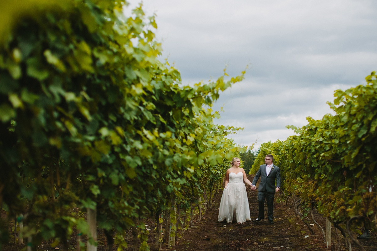 Wedding Portraits in the vineyard at Glass House Estate Winery in Langley