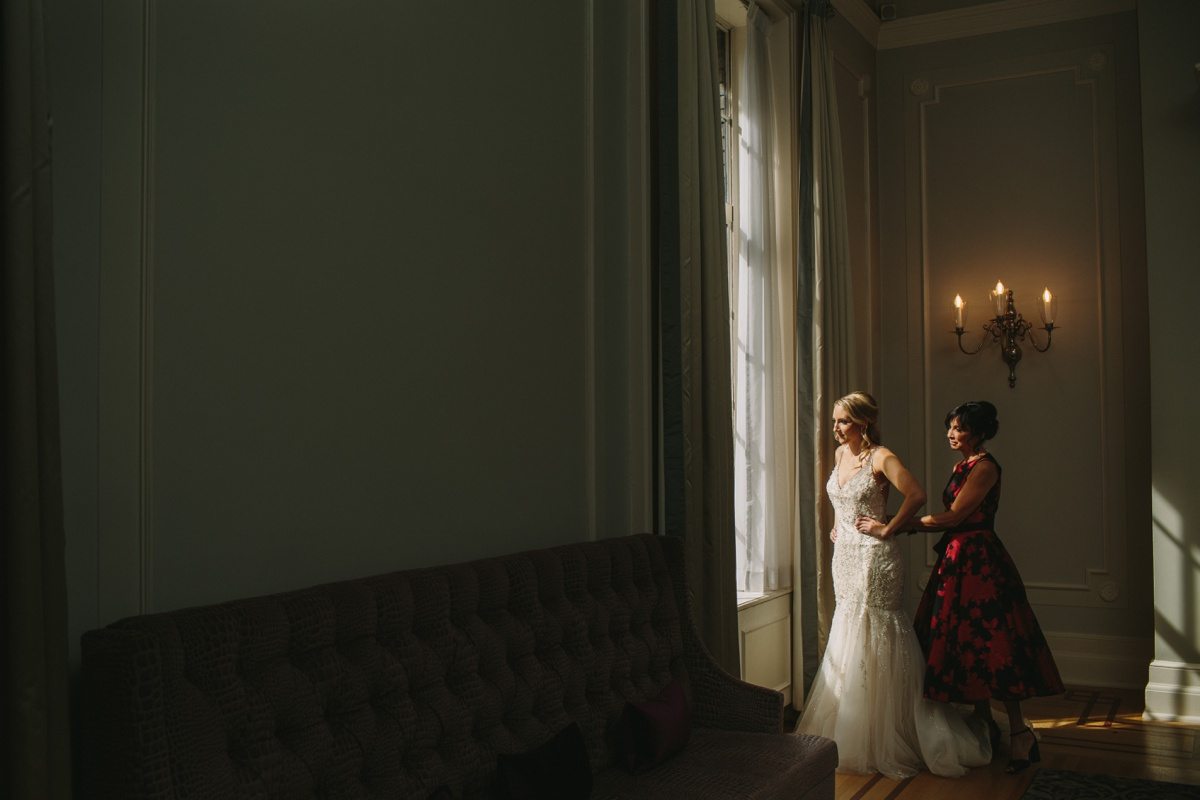 Bride Getting Ready at the Vancouver Club