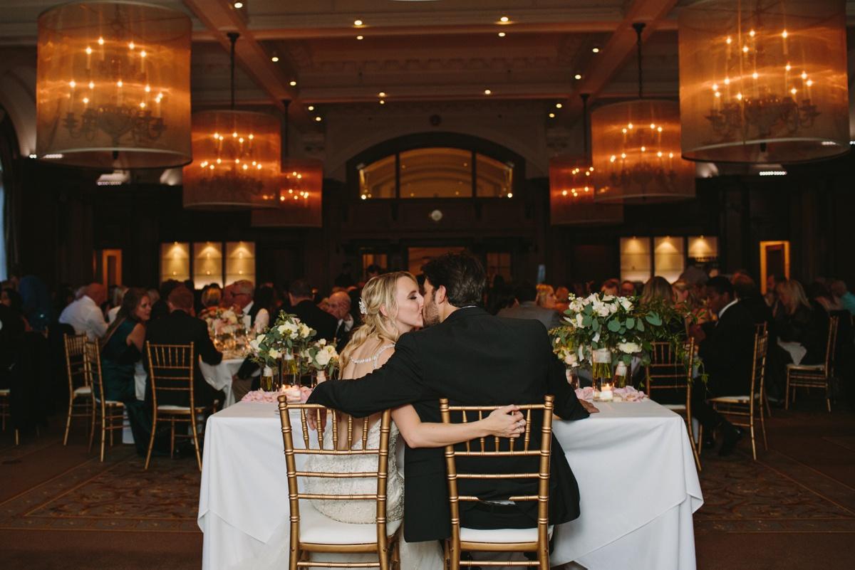 Reception at Vancouver Club Wedding