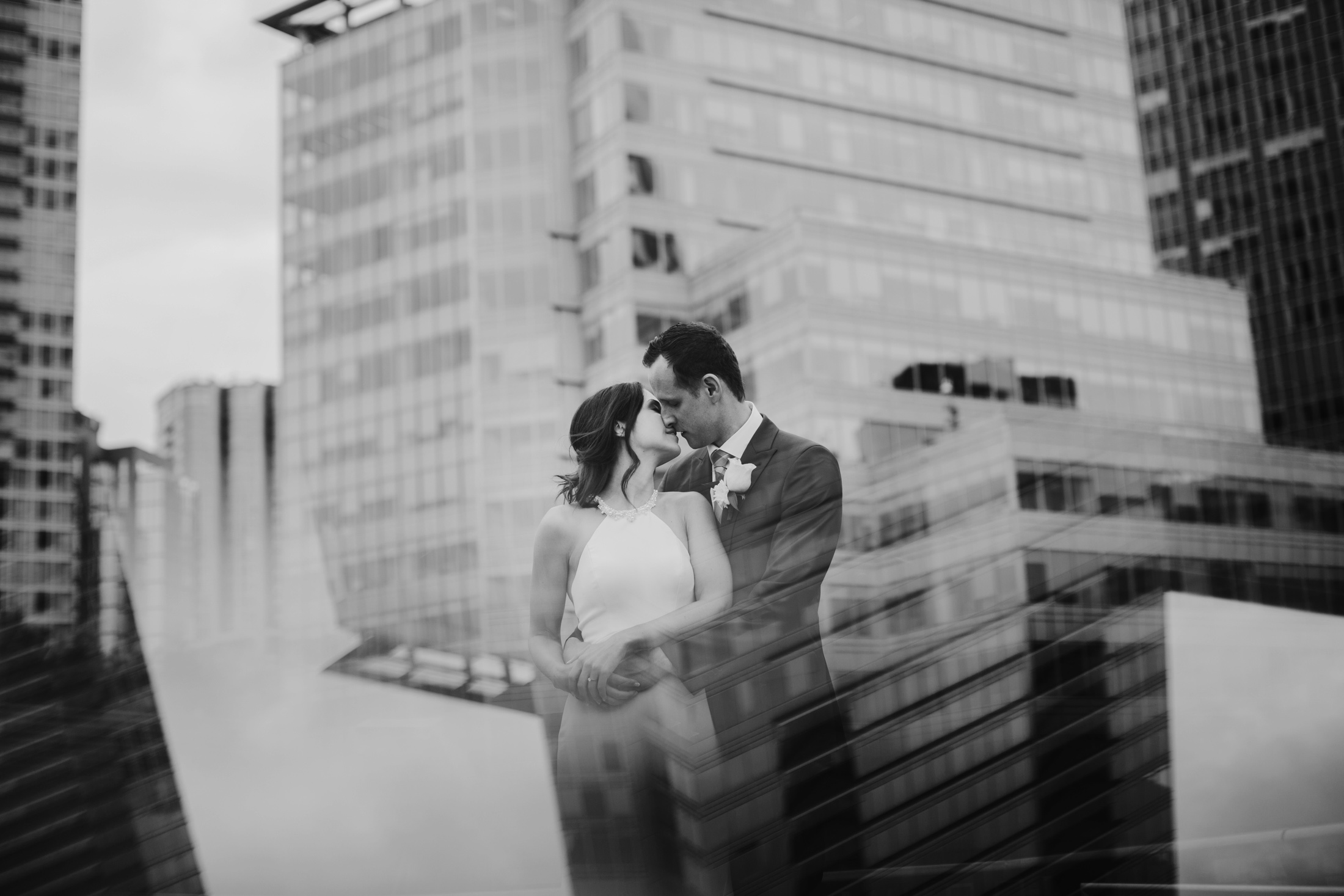 Creative Wedding Portrait in Downtown Vancouver